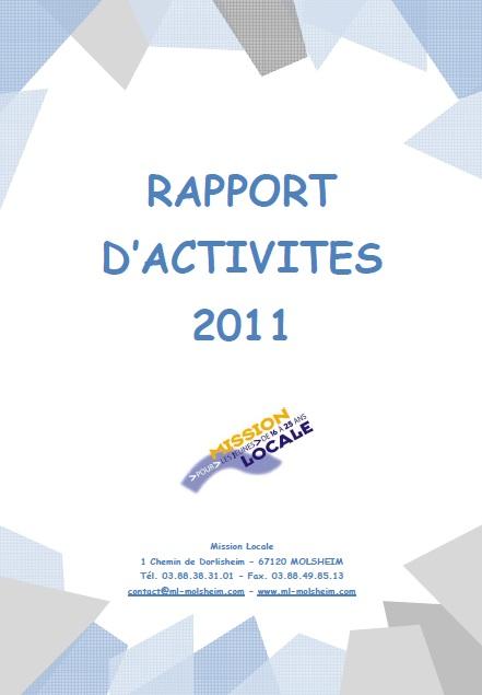 rapport d'activités ml 2011