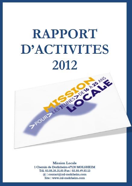 rapport d'activités ml 2012