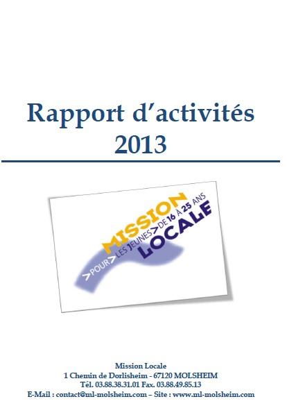 rapport d'activités ml 2013