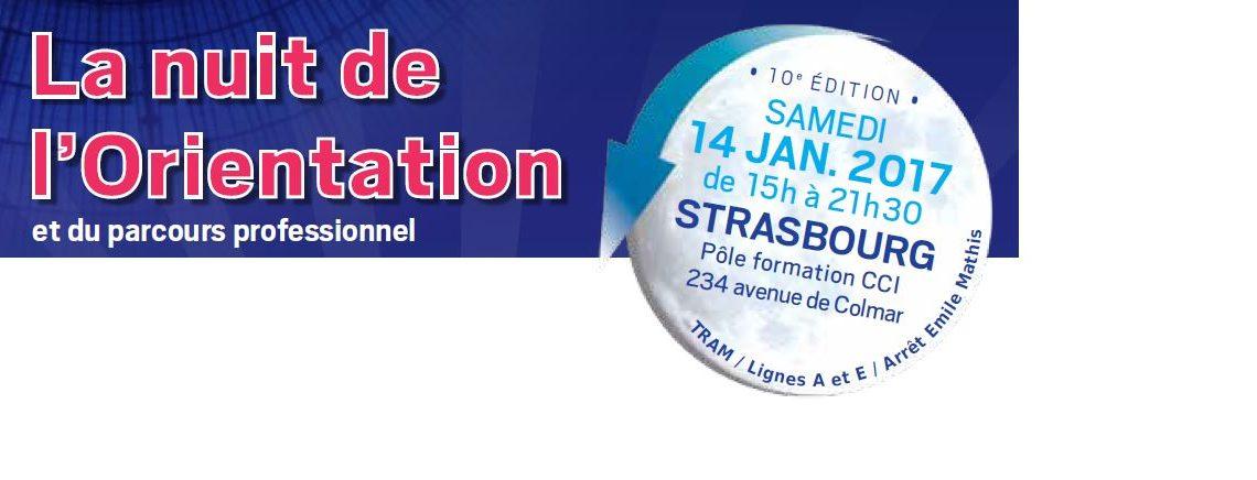 La nuit de l'orientation et du parcours professionnel le 14 Janvier 2017 de 15h00 à 21h30